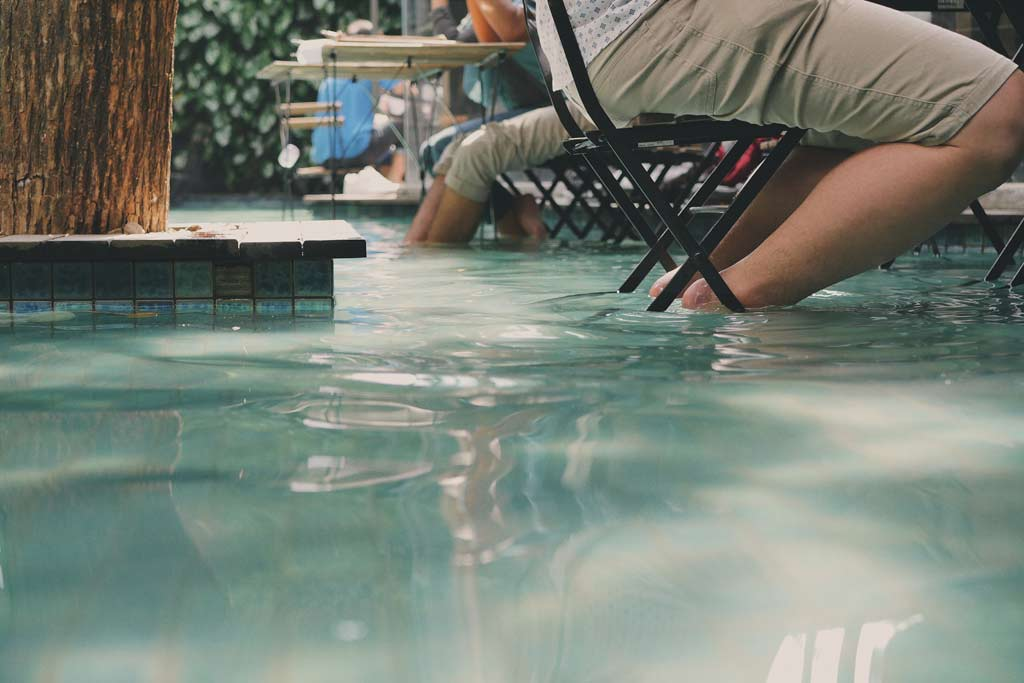 Coffee by The Pool in One Eighty Coffee Bandung